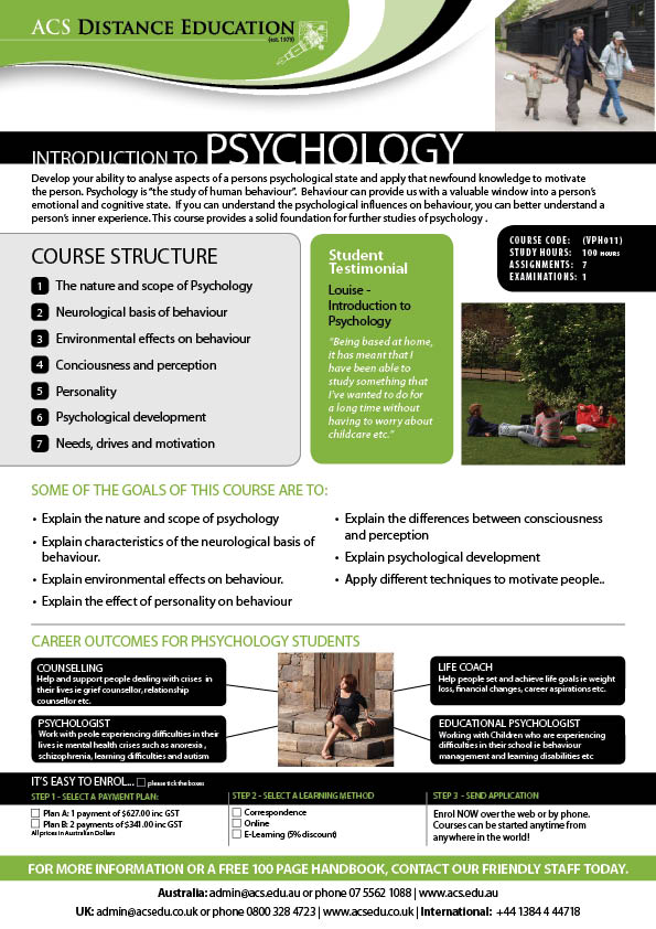 Information Systems online psychology class college credit